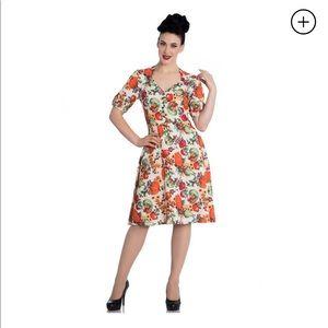 Hell Bunny Vixen size XS pumpkin/fall dress